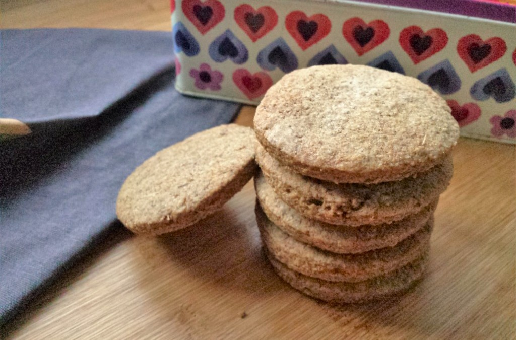 Festive spiced speculaas rye biscuits