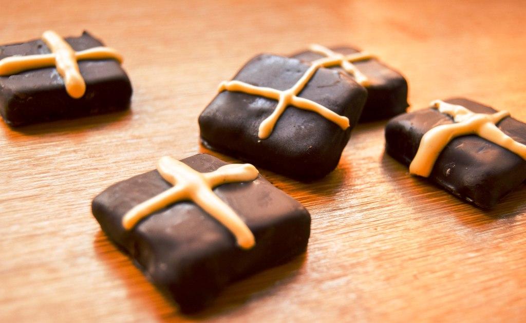 Hot Cross Cardamom Chocolates
