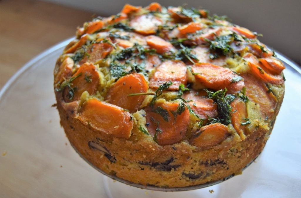 Layer up: Savoury Vegetable Cake
